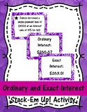 Ordinary and Exact Interest Stack-Em Up! Activity