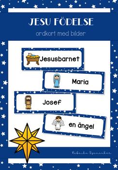 Ordkort - Jesu födelse