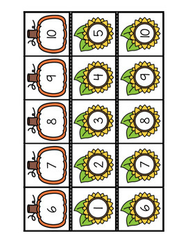 Ordonne 1 à 10 (automne)