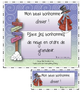 Ordre de grandeur Petits et grands (activities math french bundle)