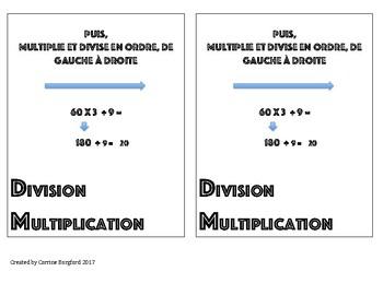 Ordre des Opérations - Flip Chart