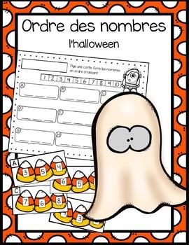 Ordre des nombres à 12 - Halloween