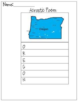 Oregon Acrostic Poem