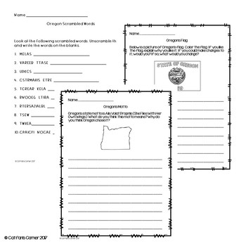 Oregon Activity Packet