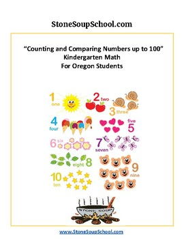 Oregon K Common Core - Counting and Comparing Numbers up to 100