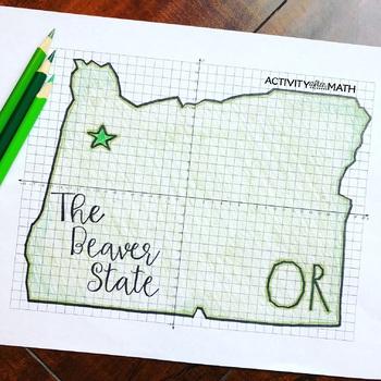 Oregon Coordinate Graphing Picture 1st Quadrant & ALL 4 Quadrants