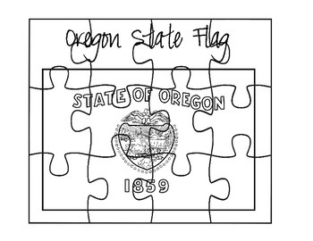 Oregon Flag Puzzle