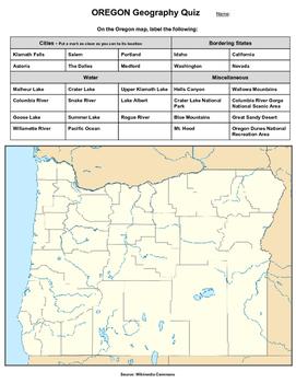 Oregon Geography Quiz