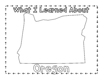 Oregon Graphic Organizers (Perfect for KWL charts and geography!)