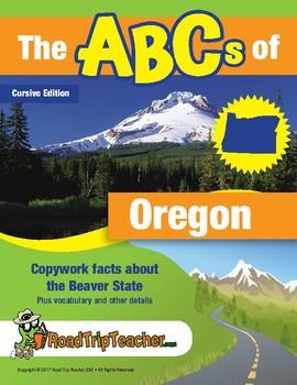 Oregon Handwriting Printables - Cursive Edition