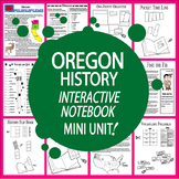 Oregon History–Interactive Notebook Oregon State Study Unit + AUDIO!