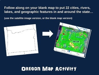 Oregon Map Activity- fun, engaging, follow-along 20-slide PPT