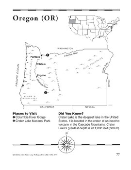 Oregon (Map & Facts)