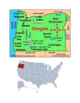 Oregon Map Scavenger Hunt