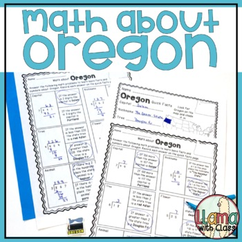 Math about Oregon State Symbols through Division Practice