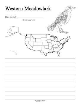 Oregon State Bird Notebooking Set (Western Meadowlark)