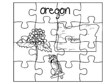 Oregon State Fact Puzzles