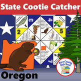 Oregon State Facts and Symbols Cootie Catcher Distance Lea