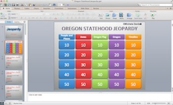 Oregon State Jeopardy Game