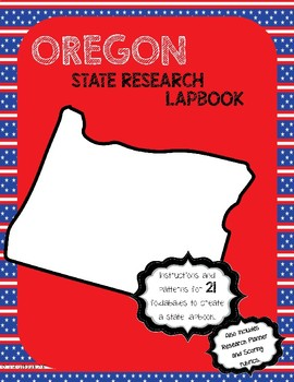 Oregon State Research Lapbook Interactive Project
