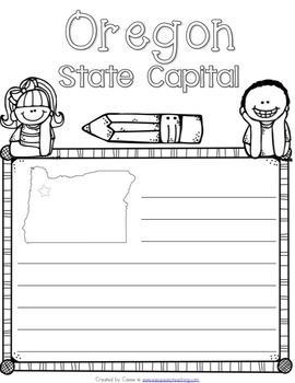 Oregon State Symbols Notebook