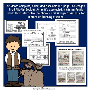Oregon Trail Unit with Articles, Activities, & Flip Book