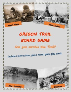 Oregon Trail Board Game