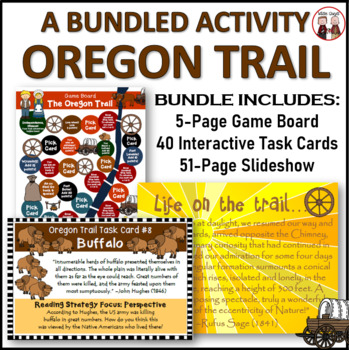 Oregon Trail Simulation Game and Activities Bundle