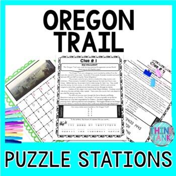 Oregon Trail ESCAPE ROOM Activity - Manifest Destiny and Westward Expansion