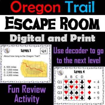 Oregon Trail: Escape Room - Social Studies