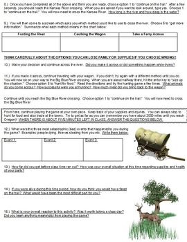Oregon Trail Game Webquest
