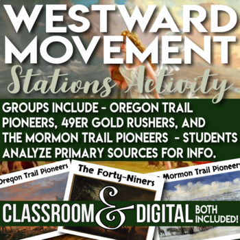 Oregon Trail, Gold Rush 49ers, Mormon Trail Primary Source Stations Analysis