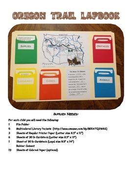 Oregon Trail Lapbook