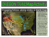 Oregon Trail Map Activity - engaging, fun, informative and easy to follow