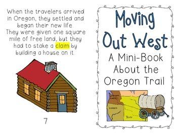Oregon Trail Mini-Book & Vocabulary Activity