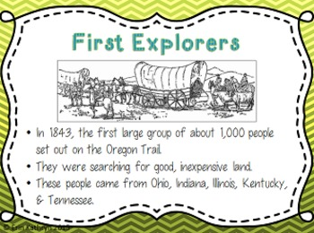 Oregon Trail PowerPoint and Note Set