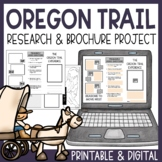 Oregon Trail Project | Research and Travel Brochure | Printable & Digital