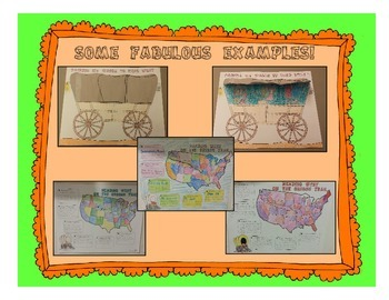 Oregon Trail Projects - Map and Covered Wagon