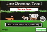Oregon Trail Review Game Template! Can be used with ANY subject!