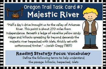 Oregon Trail Task Cards Activity
