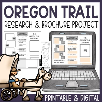 Oregon Trail Travel Brochure and Research Guide- Creativit