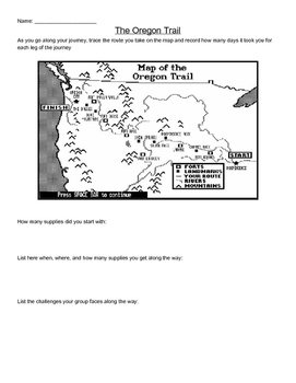 graphic regarding Oregon Trail Map Printable called Oregon Path Worksheet Instructors Pay back Academics