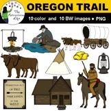 Oregon Trail and Gold Rush Clip Art