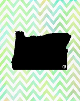 FREEBIE! Oregon Chevron State Map Class Decor, Classroom D