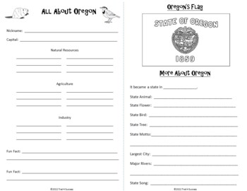 Oregon Webquest Common Core Research Mini Book
