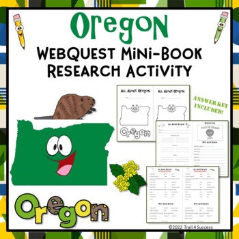Oregon Webquest Common Core Research Mini Book