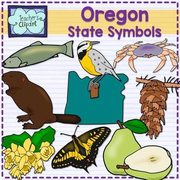 Oregon state symbols clipart