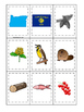Oregon themed Memory Matching and Word Matching preschool curriculum  game