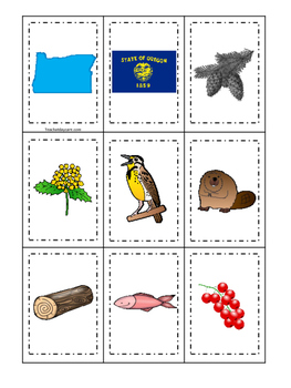 Oregon themed Memory Matching and Word Matching preschool