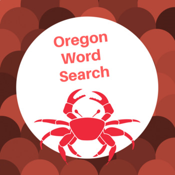 Oregon word search
